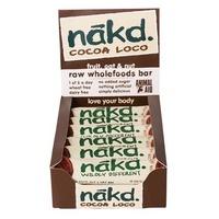 A box of Nakd Cocoa Loco bars.