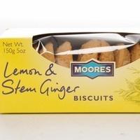 Moores Lemon & Stem Ginger Biscuits