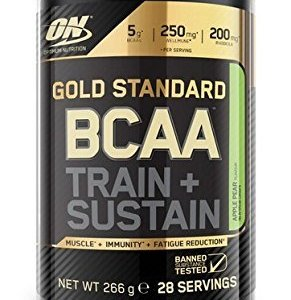 Optimum Nutrition Gold Standard BCAA Branch Chain Amino Acids with Vitamin C, Wellmune & electrolytes. BCAA powder by ON - Apple & Pear, 28 Servings, 266g