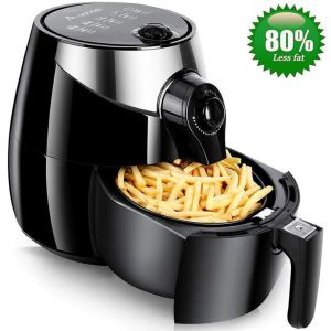 Air Fryer,Aobosi Healthy Air Fryer with Detachable Dishwasher Safe Basket, Free Recipe Cookbook,3.5L Pan with 2.5L Basket