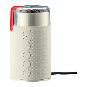 BODUM 11160-913UK Bistro Electric Coffee Grinder, Holds 60 g of Beans - White - Off White