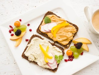 Toast with vegan spreads.