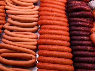 processed meats such as sausages.