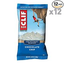 CLIF BAR - Energy Bar - Chocolate Chip - (2.4 Ounce Protein Bar, 12 Count)