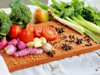 A balanced diet of fruits, nuts, vegetables, meats etc.