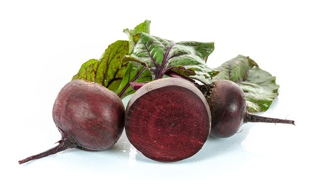 beetroot as a source of betalain, a red pigment for food colouring.