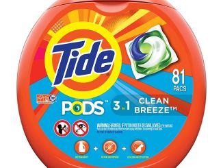 Tide - an image of a container for laundry detergent pods