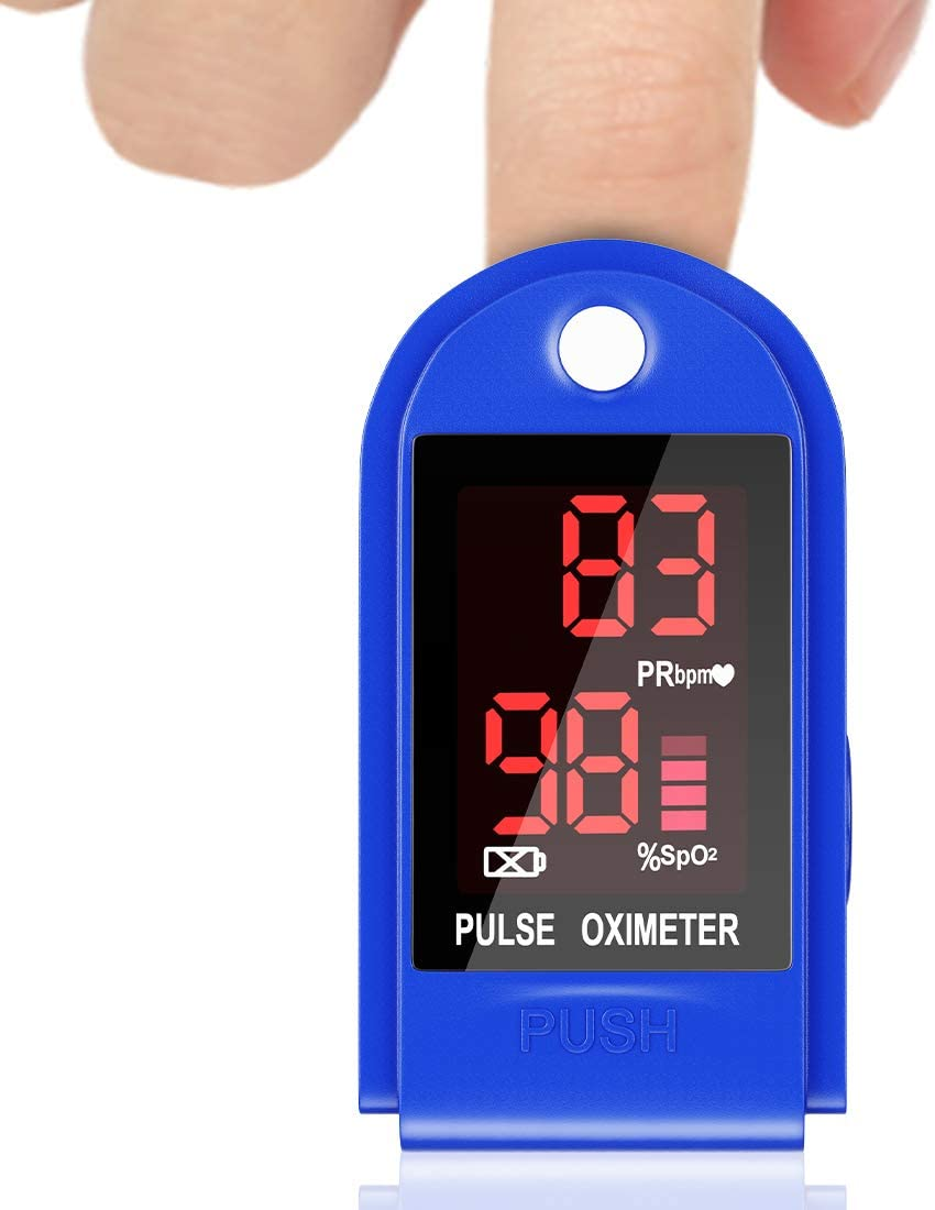 Oximeter Finger Oximeter LED Display Oxygen Saturation Monitor Adult Child Heart Rate Monitor Large Screen Display Test for Sp02 Blood Oxygen Concentration