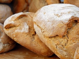Baked bread - the colour and flavour are due to Maillard reactions.