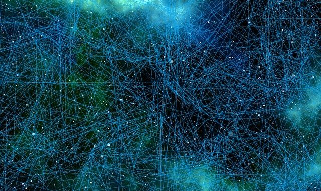 A representation of an artificial neural network.