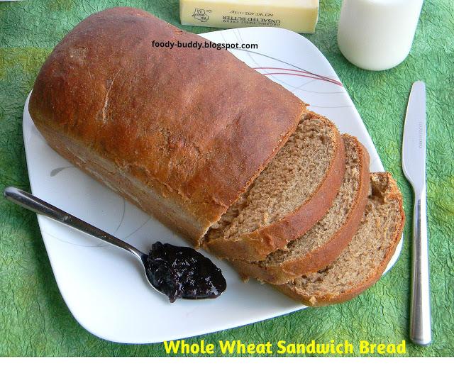 Whole Wheat Sandwich Bread / How To Make Whole Wheat Bread From Scratch / No Egg Bread Recipe