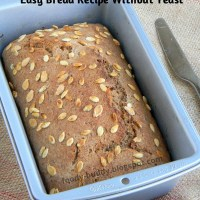 Easy Bread Recipe Without Yeast / No Yeast Wheat Bread