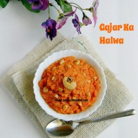 Carrot Halwa / Gajar Ka Halwa - Microwave Method / Easy Diwali Sweets