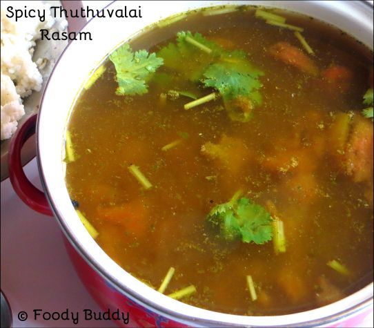 Spicy Thuthuvalai Rasam