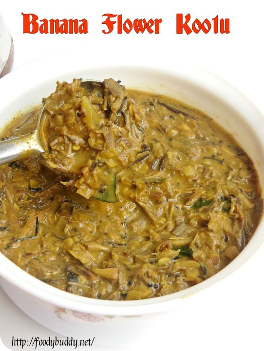 kootu recipe with banana  flower