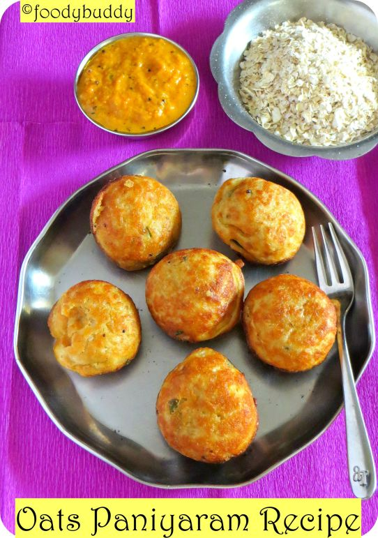 paniyaram with oats
