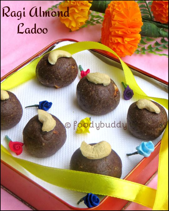 Ragi almond ladoo recipe