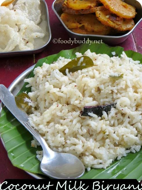 coconut milk biryani recipe