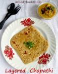Soft Layered Chapathi Recipe / How to Make Layered Paratha