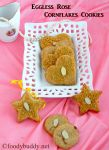 Eggless Rose Cornflakes Cookies / No Butter Cookies Recipe