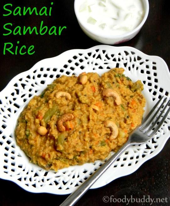 samai sambar rice