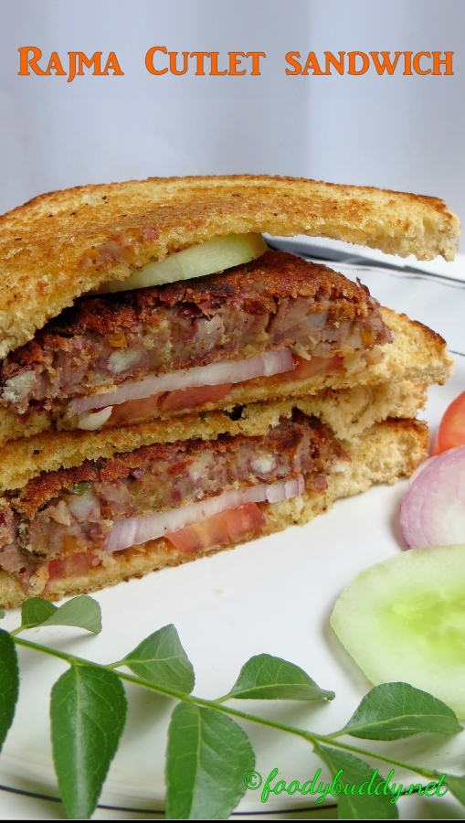 Rajma Aloo Cutlet Sandwich Recipe