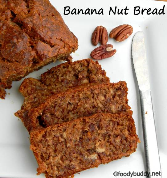 eggless banana pecan bread recipe