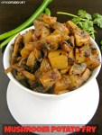 Mushroom Potato Fry / Kalan Urulai fry (Indian Style)
