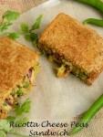 Ricotta Cheese Peas Sandwich / Ricotta Sandwich