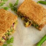 ricotta cheese peas sandwich