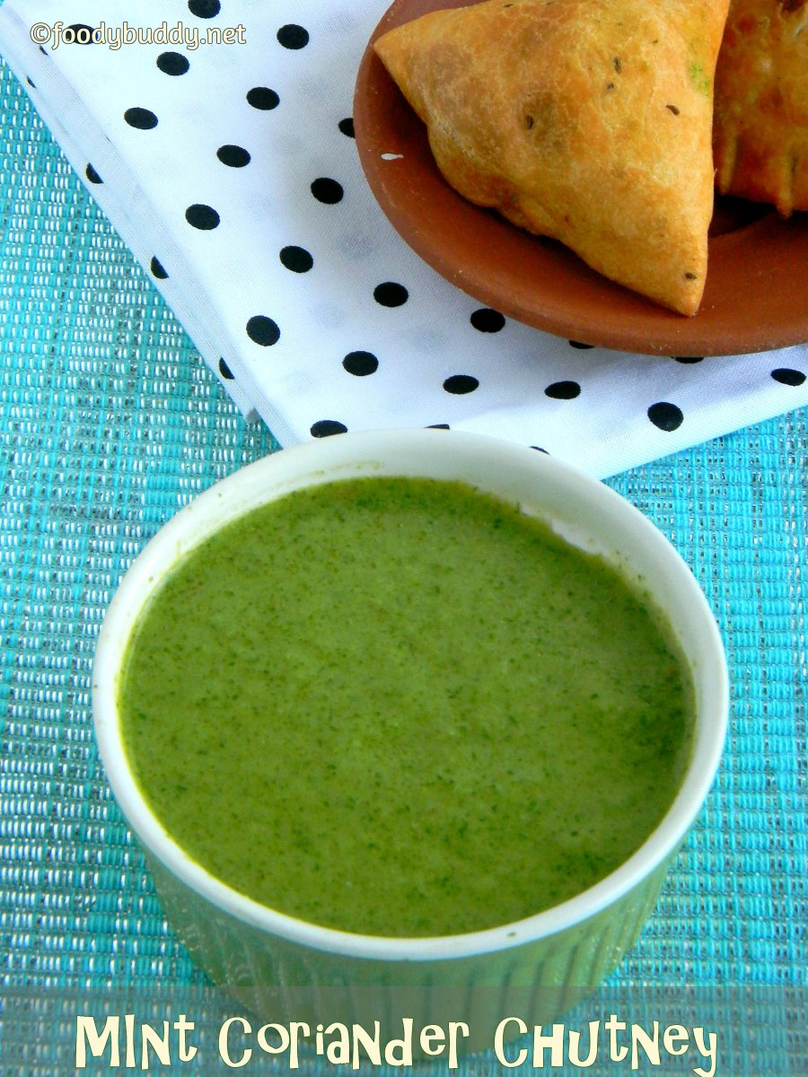 Mint Coriander Chutney / Green Chutney Recipe