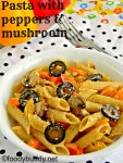 Mushroom and Tricolour Pepper Pasta Recipe