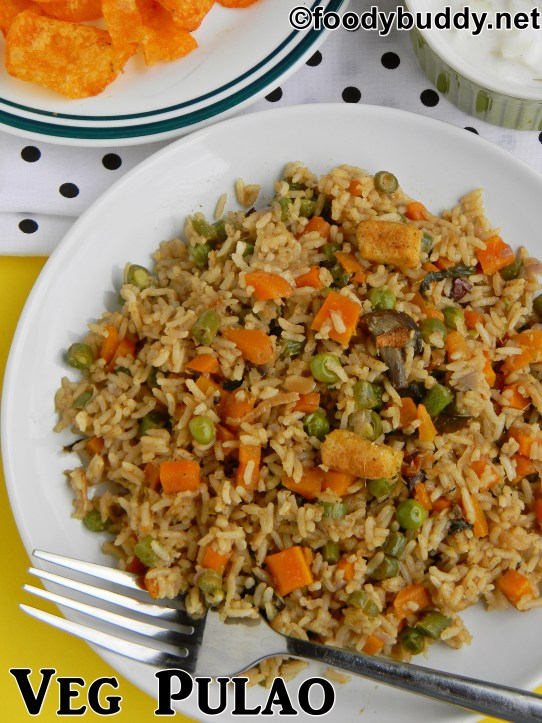 mixed vegetable pulao recipe in pressure cooker