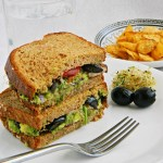 Guacamole and Alfalfa Sprouts Sandwich Recipe