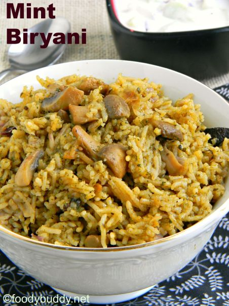 easy mint biryani