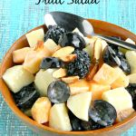 Fresh Fruit Salad with Yogurt Honey Dressing