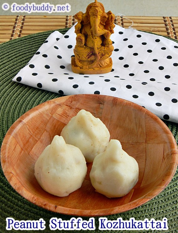 peanut coconut kozhukattai recipe