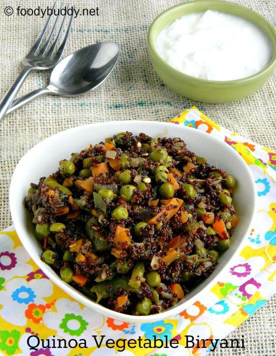 quinoa vegetable biryani