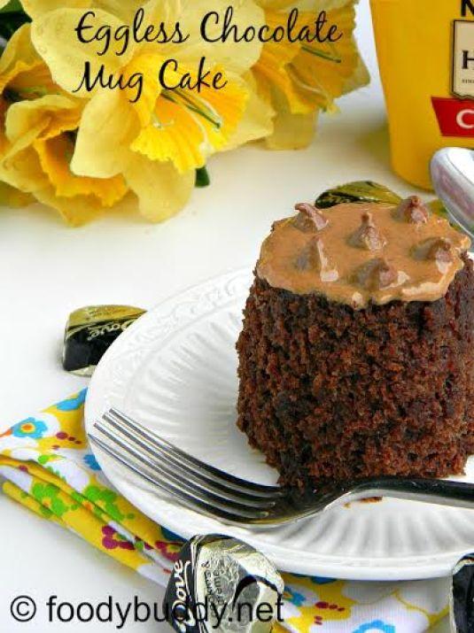eggless chocolate mayo mug cake
