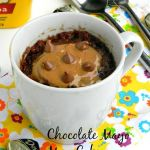 Eggless Chocolate Mayo Mug cake with peanut butter frosting- My First Guest Post