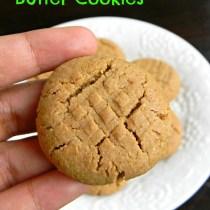 no egg no butter peanut butter cookies