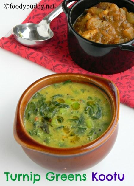 turnip greens kootu South Indian