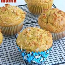easy mango coconut muffins