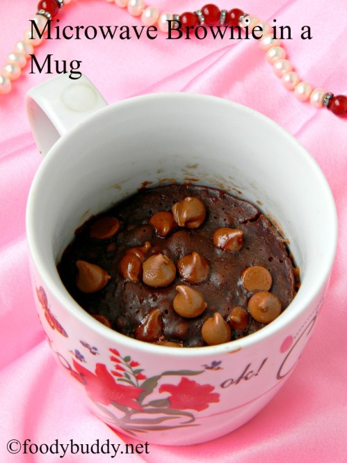 microwave mug brownie recipe