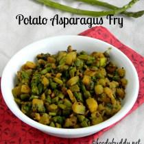 potato asparagus fry