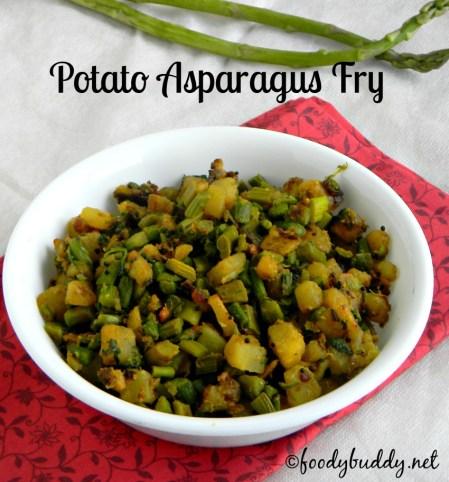 Asparagus potato fry