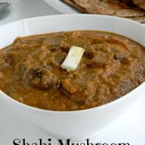 shahi mushroom gravy recipe