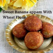 instant sweet wheat flour banana appam
