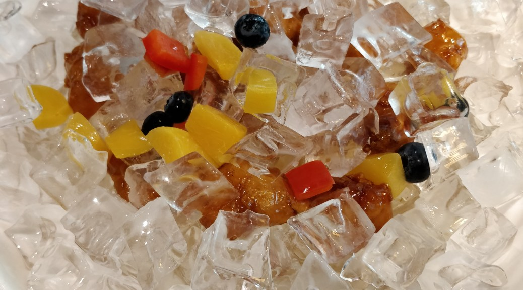Sweet sour pork on the rock