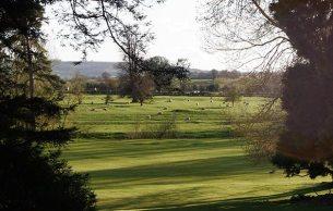 Ettington Park estate in the evening sun